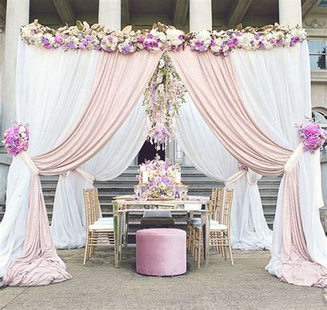 Draping Fabric For Weddings Wedding Ceremony Arch Ideas Lavender Theme Blusk Pink
