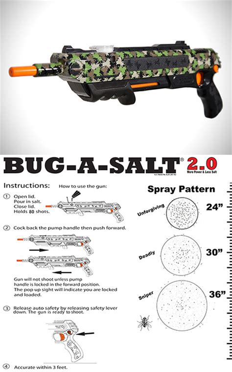 Bug A Salt 2 0 Pistol Pembasmi Serangga bug a salt 2 0 gun lets you shoot flies with salt is more powerful than original techeblog