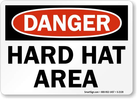 printable hard hat area sign big construction signs guaranteed best prices