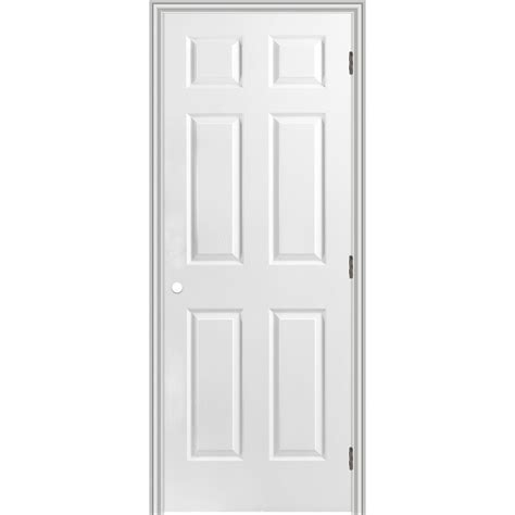 prehung interior doors shop reliabilt 6 panel hollow textured molded composite left interior single prehung