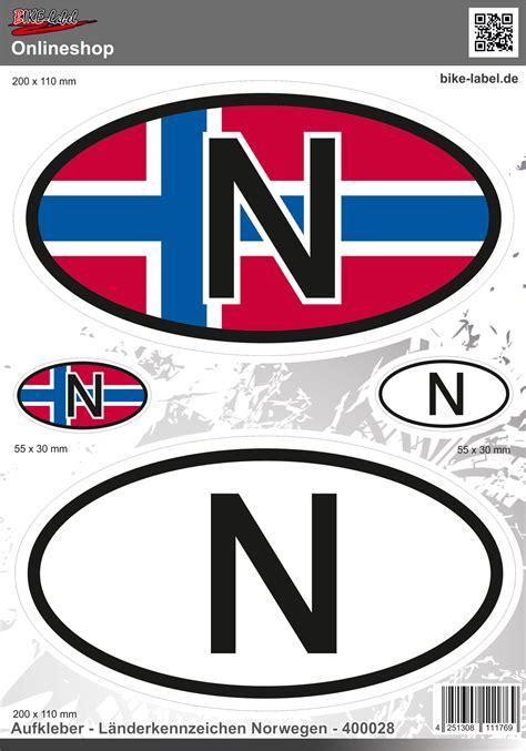 3d Aufkleber Norwegen l 228 nderkennzeichen norwegen aufkleber auto caravan motorrad