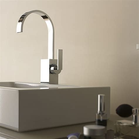 fancy bathroom faucets dornbracht s sleek mem faucet a flat spout fancy