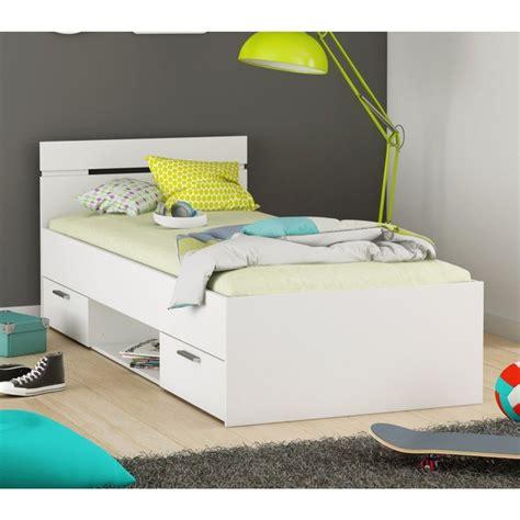 lit enfant tiroir blanc perle terre de nuit blanc terre