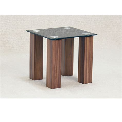 Oak And Glass Side Table Mirage Black Glass Oak Side Table Forever Furnishings Home And Garden Furnishings