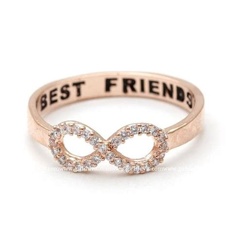 infinity ring best friends best friends infinity ring pinkgold girlsluv it