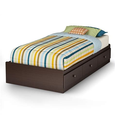 south shore twin bed south shore zach twin mates bed in chocolate 3569080