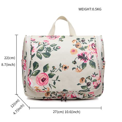 Floral Prints For Travel lt1757 17f bg miss lulu toiletry travel bags floral