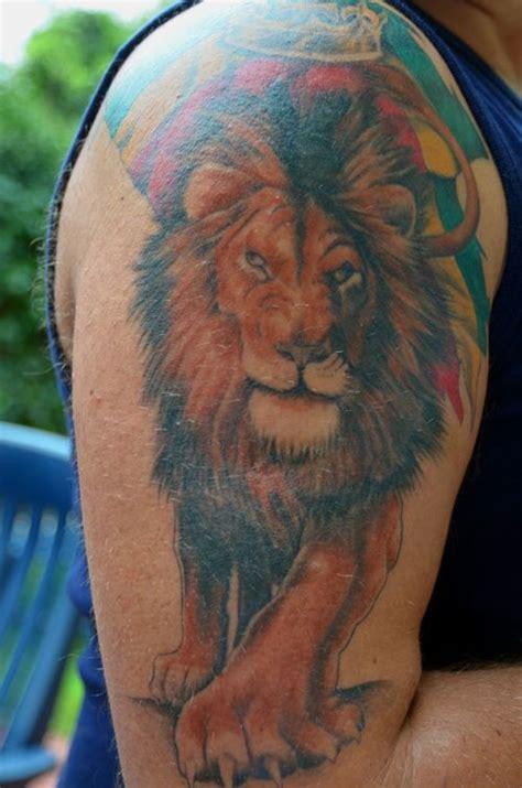 rasta lion tattoo rasta colored tattoos www pixshark images