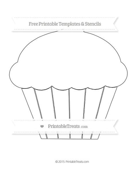 free printable extra large cupcake template shapes and