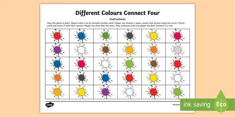connect colors different colours connect four