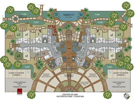 floor plan resort recreational resorts spas usa
