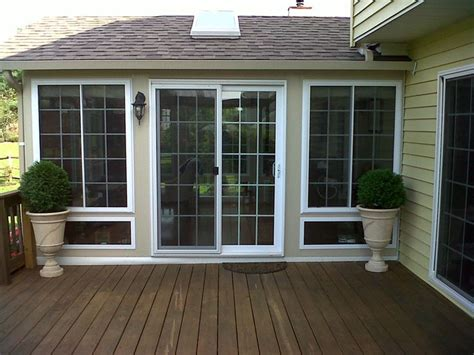 sunroom in french french style sliding glass door porch lights for deck