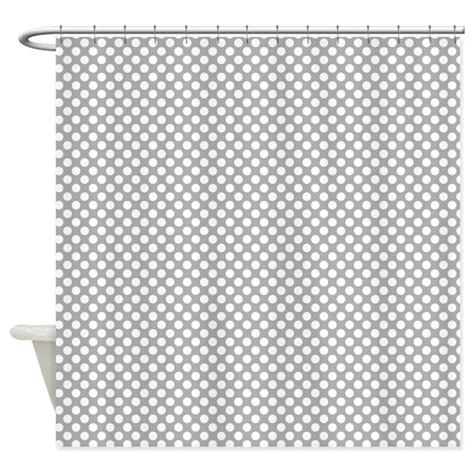 grey and white polka dot curtains grey and white polka dots shower curtain by colorfulpatterns