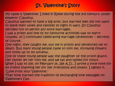 the story valentines day st s day