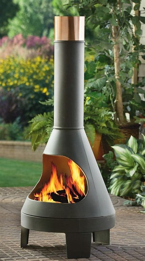 Modern Chiminea castlecreek chiminea gardening outdoors