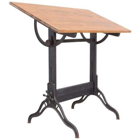 Old American Industrial Drafting Table At 1stdibs Industrial Drafting Table