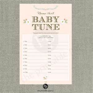 baby shower songs printable quot name that baby tune quot baby shower blush