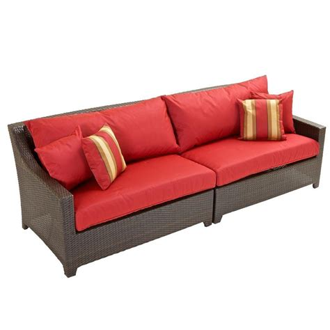 red couch cushions rst brands deco patio sofa with cantina red cushions op