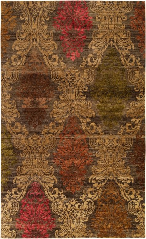 Surya Hand Knotted Wool Brown 2x3 Persian Area Rug Area Rugs 2x3