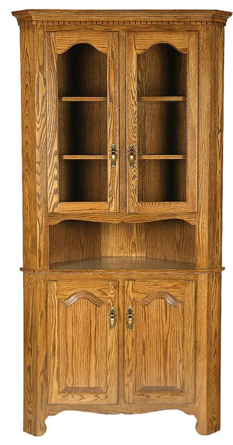 Foyer Storage Cabinet Amish Corner Hutch Cabinet