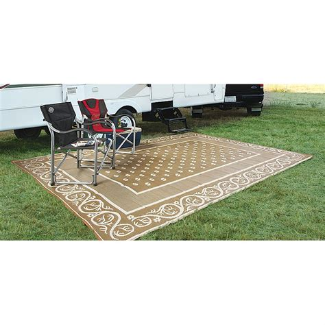 guide gear 9x12 reversible patio rv mat 563669