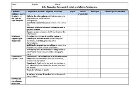 Grille évaluation Expression écrite Anglais by Grille 233 Valuation Diaporama