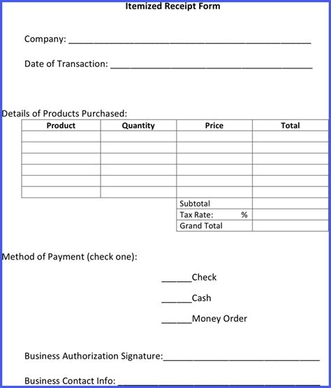 budget template itemized receipt letter forma