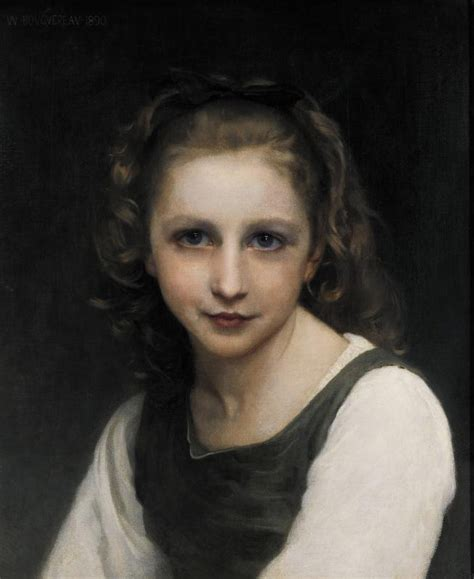 william adolphe bouguereau young girl portrait of a young girl william adolphe bouguereau