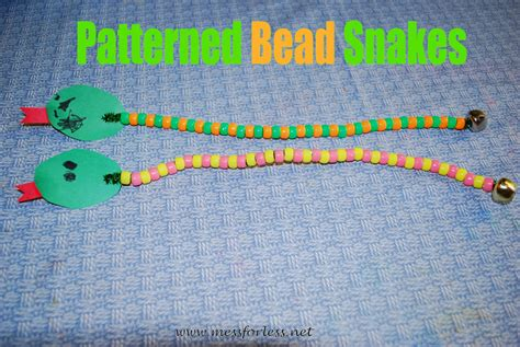 bead cleaning patterned bead snakes mess for less
