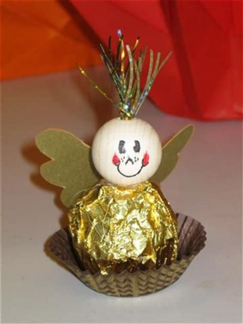weihnachts tischdeko basteln weihnachten rocher engel coole idee