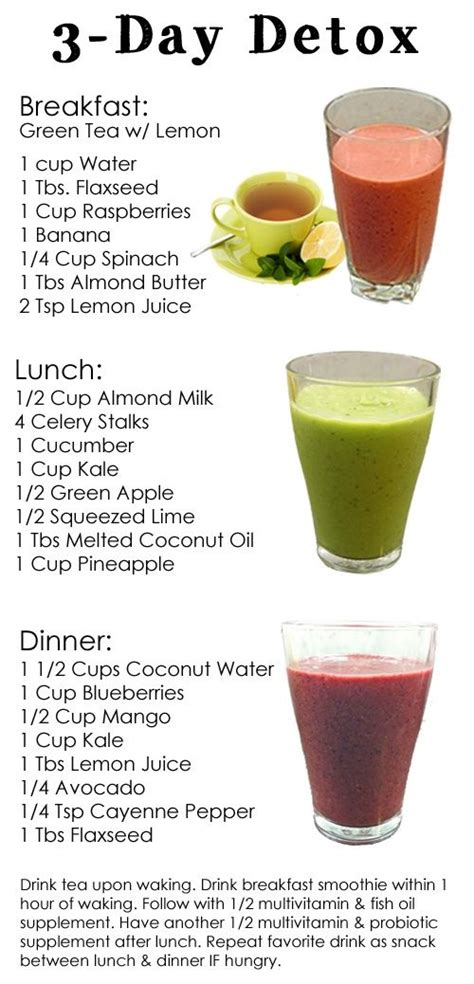 Detox Smoothie Meal Plan by A 3 Day Detox Diet To Reset Your Detox