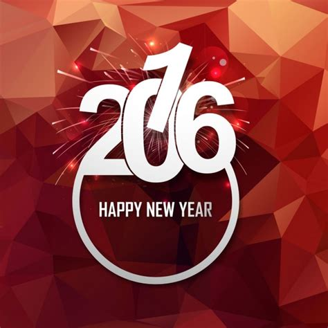 shiny new year shiny new year 2016 card with firework vector free