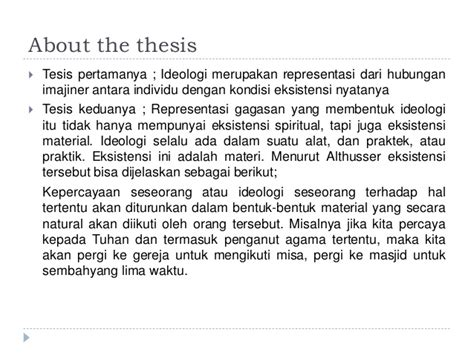 thesis atau tesis the state ideological apparatuses althusser