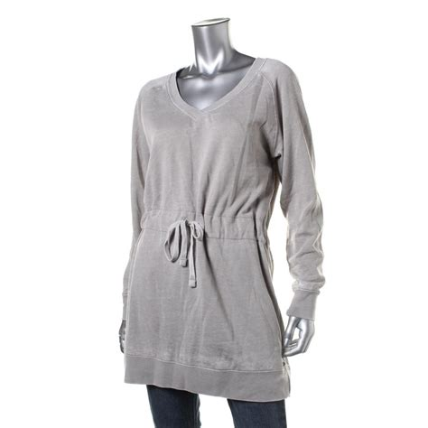 Guess 2in1 guess 4222 womens heathered tunic fleece lined sweatshirt