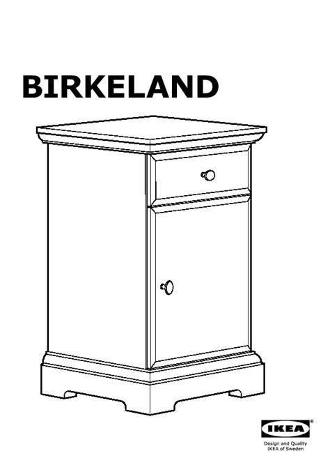 Ikea Table De Nuit by Birkeland Table De Chevet Blanc Ikea Ikeapedia