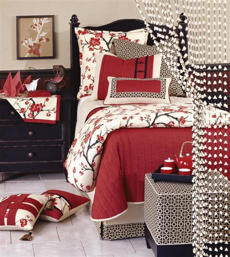 sakura oriental comforters luxury bedding by eastern accents collection