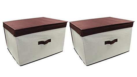 esylife folding closet storage box containers with lid