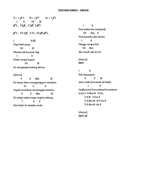 Husmanss: Lagu Chord Tentang Rindu