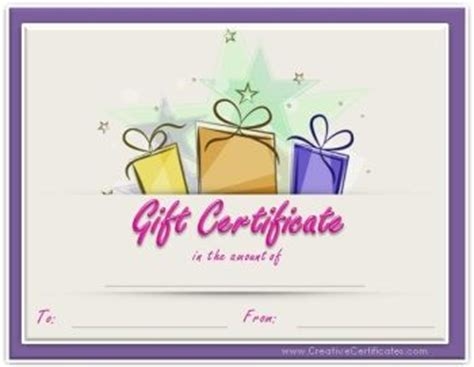 Free Printable Birthday Gift Certificates Birthday Gift Certificate Template Printable Gc