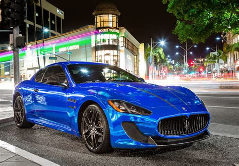 blue maserati chrome blue maserati gt madwhips