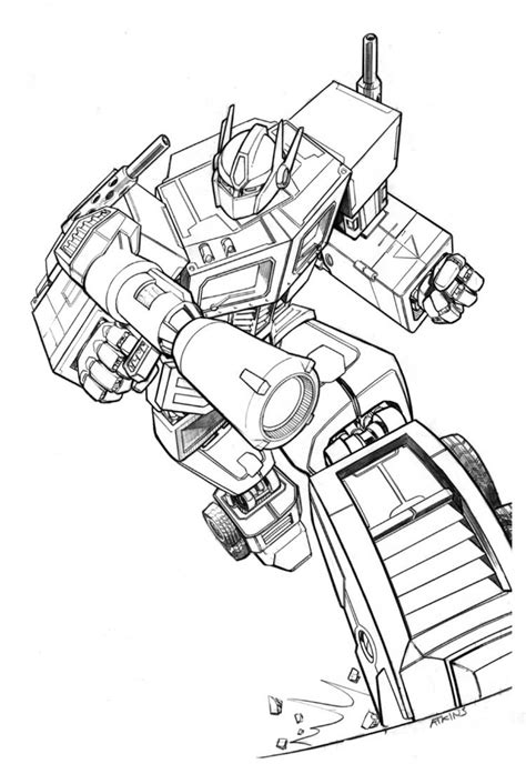 optimus prime coloring page free printable transformers coloring pages for