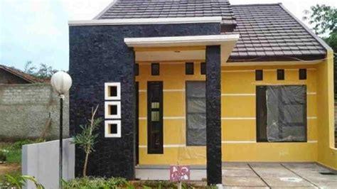 desain rumah type   terlihat luas hemat budget
