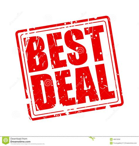 best deal best deal st text stock vector image 48619358