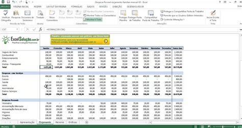 planilha gratis modelo orcamento gastos pessoais mensal