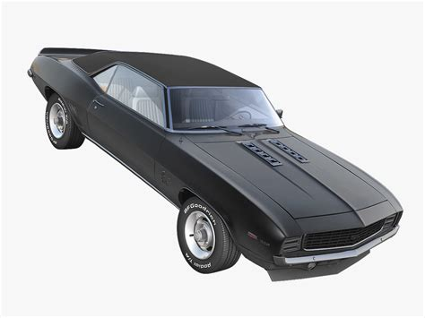 Gm 21 3ds Max Animation chevrolet camaro ss 1969 3d model