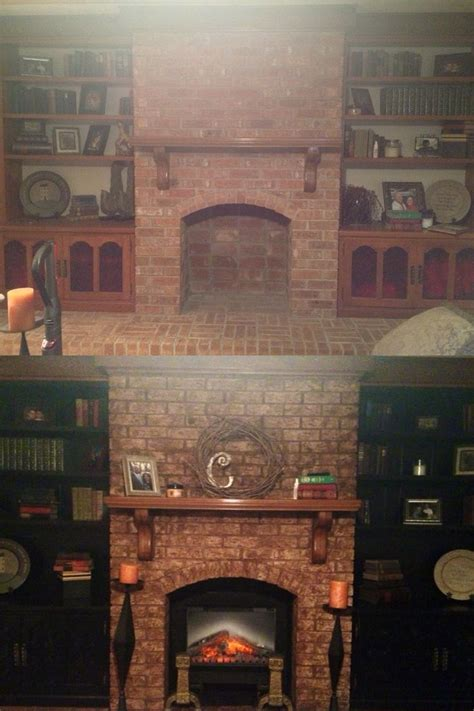 Update Fireplace Brick by 17 Best Images About Update Built In Bookcase On