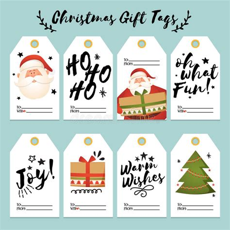 christmas hang tags sale elements set stock vector illustration  merry greeting