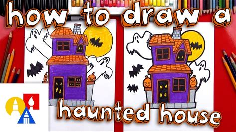haunted house music for kids how to draw a haunted house youtube