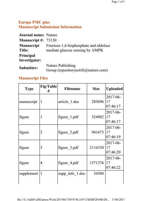 (PDF) Fructose-1,6-bisphosphate and aldolase mediate
