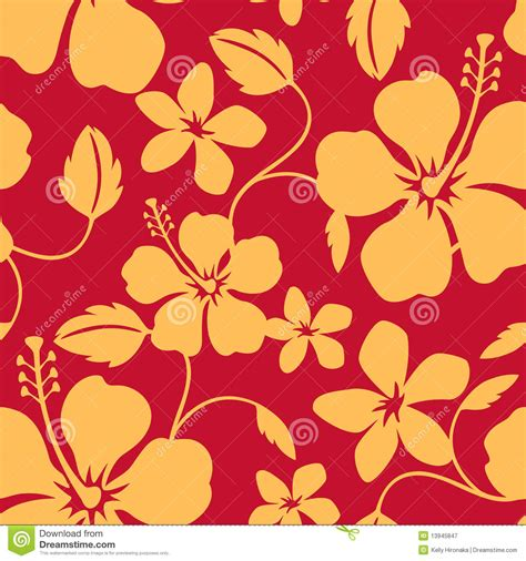 hawaii pattern free seamless hawaiian hula pattern stock vector image 13945847